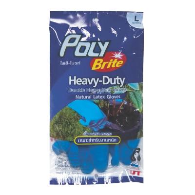 ถุงมือยางธรรมชาติ Heavy-Duty No.L โพลี-ไบรท์ 934-32D