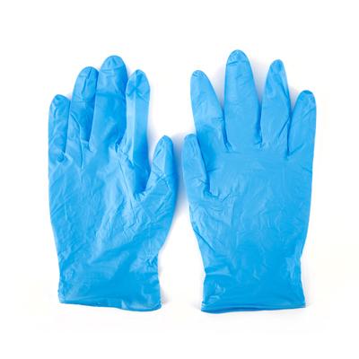 ถุงมือยางไนโตรไร้แป้ง Size M (100ชื้น) โพลี-ไบรท์ 943D3