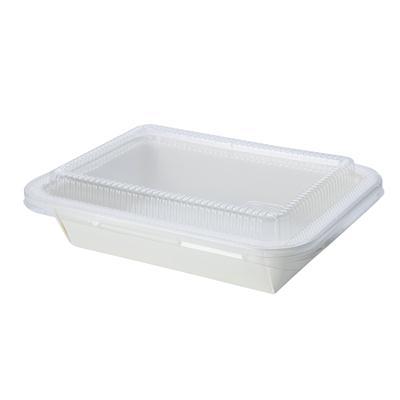 กล่องไฮบริดกระดาษขาว 650มล. (แพ็ค50ใบ) FEST HB001