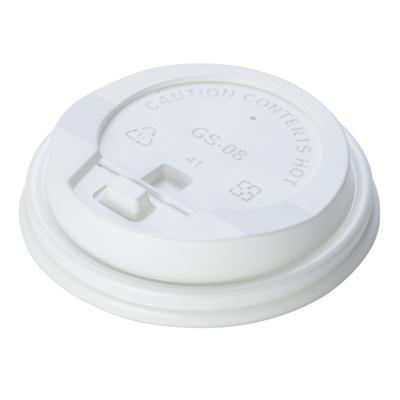 ฝาพลาสติกปิดแก้ว 8ออนซ์ ขาว (แพ็ค50ใบ) FEST A010