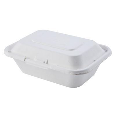 กล่องเยื่อธรรมชาติขาว 600มล. (แพ็ค50ใบ) FEST B001