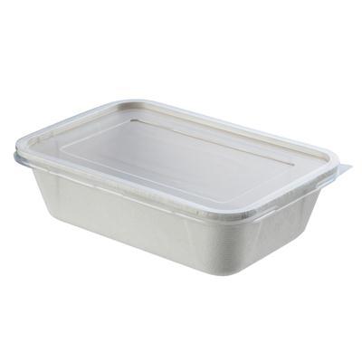 กล่องเยื่อพืช+ฝา 650 มล.(แพ็ค25ชิ้น) GRACZ SIMPLE T611