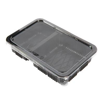 กล่องพลาสติกดำ2ช่อง+ฝา (แพ็ค15ใบ) S&C L-21