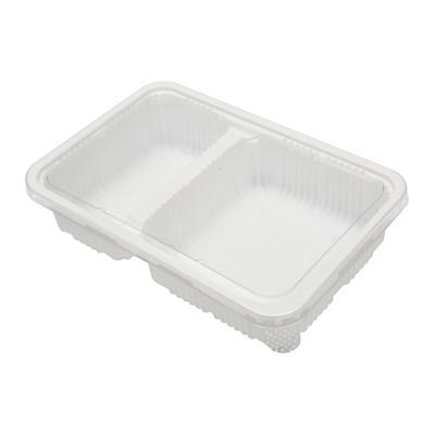 กล่องพลาสติกขาว2ช่อง+ฝา (แพ็ค15ใบ) S&C L-21