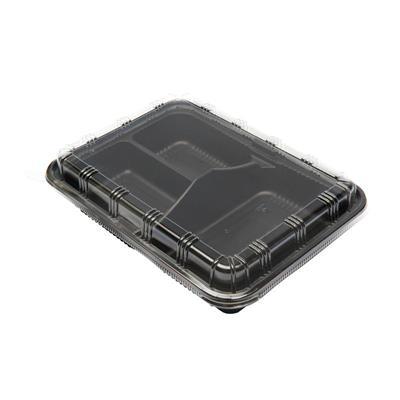 กล่องพลาสติกดำ3หลุม+ฝา (แพ็ค25ใบ) S&C L-34