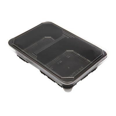 กล่องพลาสติกดำ2หลุม+ฝา (แพ็ค15ใบ) S&C L-22(PP)