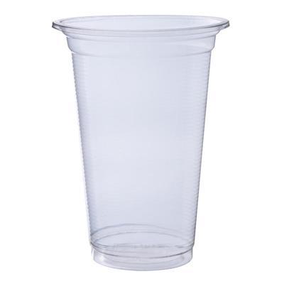 แก้วพลาสติกเรียบ 20ออนซ์(ปาก9.5ซม.)(แพ็ค50ใบ) RB