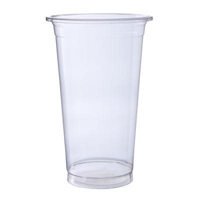 แก้วพลาสติกเรียบ 22ออนซ์(ปาก9.5ซม.)(แพ็ค50ใบ) RB Non Series