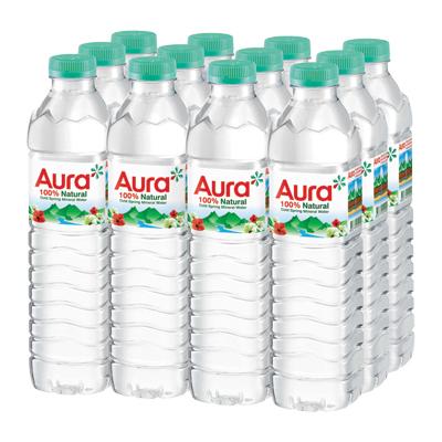 น้ำแร่ธรรมชาติ 500 มล. (แพ็ค 12 ขวด) Aura