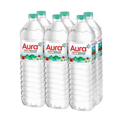 น้ำแร่ธรรมชาติ 1500 มล. (แพ็ค 6 ขวด) Aura