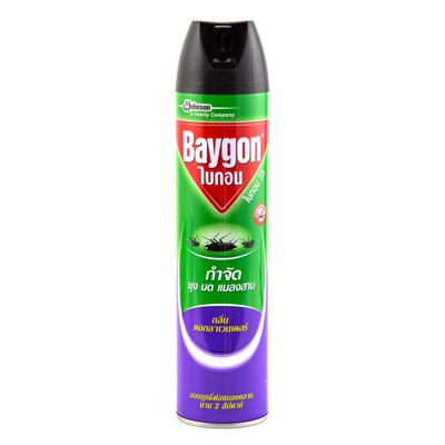 สเปรย์กำจัดยุงมดแมลงสาบ กลิ่นลาเวนเดอร์ 600มล. ไบกอน