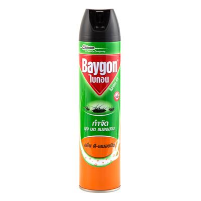สเปรย์กำจัดยุงมดแมลงสาบ กลิ่นดี-เลมอนนีน 600มล. ไบกอน 43