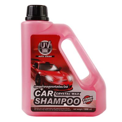 แชมพูล้างรถ 1200 มล. สตรอเบอรี่ ยูวี-วัน Crystal Wax