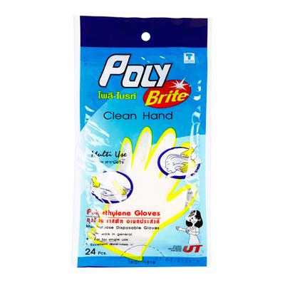 ถุงมือพลาสติกอเนกประสงค์ โพลี-ไบรท์ 950