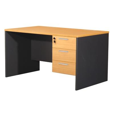 โต๊ะทำงาน บีช+เทาดำ เฟอร์ราเดค ST135DB