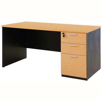 โต๊ะทำงาน บีช-เทาดำ เฟอร์ราเดค ST150PDC3