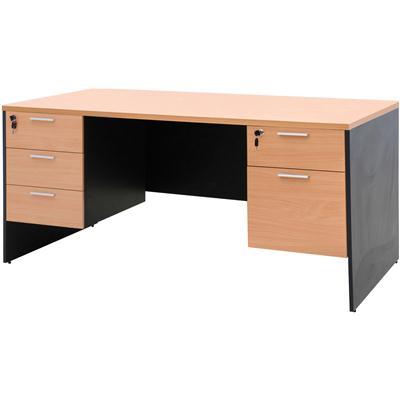 โต๊ะทำงาน บีช+เทาดำ เฟอร์ราเดค ST165DB+SDA