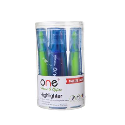 ปากกาเน้นข้อความ คละสี (แพ็ค6ด้าม) ONE HY253400
