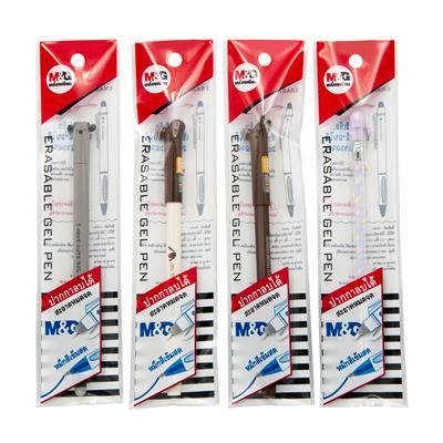 ปากกาเจลลบได้ แฟนซีด้ามคละสี น้ำเงิน M&G