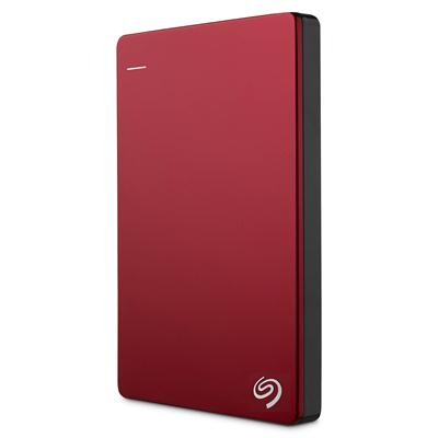 Seagate Backup Plus Slim Portable Hard Drive 1TB สีแดง
