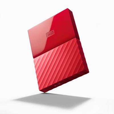 เอ็กซ์เทอร์นัลอาร์ดดิสก์ แดง WD NEW MY PASSPORT 1TB