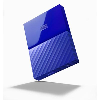 เอ็กซ์เทอร์นัลอาร์ดดิสก์ ฟ้า WD NEW MY PASSPORT 1TB
