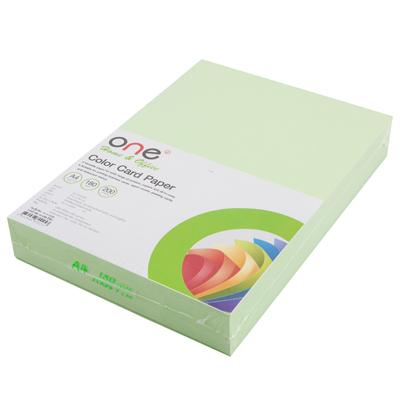 กระดาษการ์ดสี A4 180 แกรม เขียว (200แผ่น) ONE