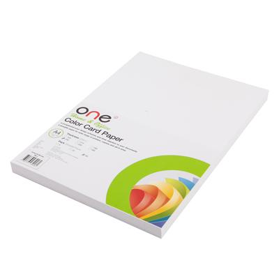 กระดาษการ์ดสี A4 230 แกรม ขาว (50แผ่น/แพ็ค) ONE