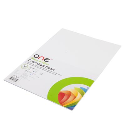 กระดาษการ์ดสี A4 250 แกรม ขาว (10แผ่น/แพ็ค) ONE