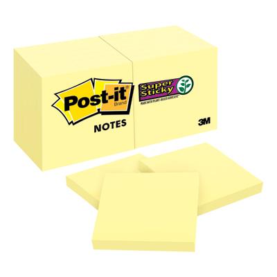 ซุปเปอร์สติกกี้โน้ต Canary Yellow โพสต์-อิท 622-12SSCY