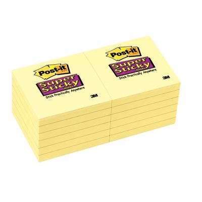 ซุปเปอร์สติกกี้โน้ต Canary Yellow โพสต์-อิท 654-12SSCY