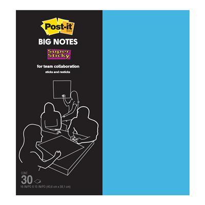 กระดาษโน้ต(ใหญ่) B16B 15x16นิ้ว ฟ้า(30แผ่น) โพสต์-อิท