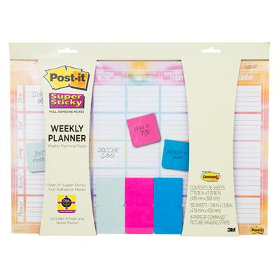 โพสต์-อิทโน้ต Weekly Planner Post-it 730-CAL-WTRCLR
