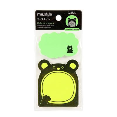 กระดาษโน้ตรูปหมี 30แผ่น คละสี (แพ็ค2) ME.STYLE 22031-B