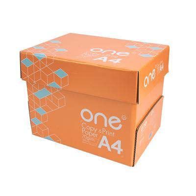 กระดาษถ่ายเอกสาร A4 70แกรม ส้ม (แพ็ค5รีม) ONE