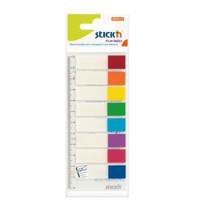 ฟิล์มโน้ตดัชนี (แพ็ค8สี) สติก เอ็น 21467