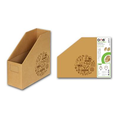 กล่องใส่เอกสารพับได้ 1ช่อง น้ำตาล ONE Non-Seriese