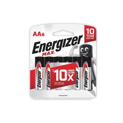 ถ่านอัลคาไลน์ AA (แพ็ค 6 ก้อน) Energizer Max