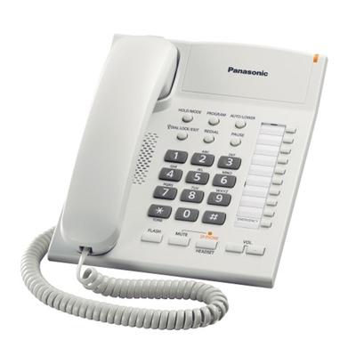โทรศัพท์ สีขาว Panasonic KX-TS840MX