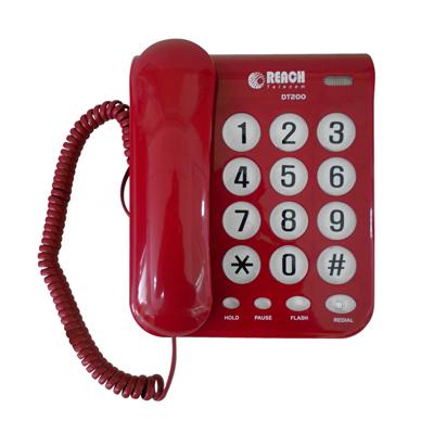 โทรศัพท์ สีแดง รีช DT-200