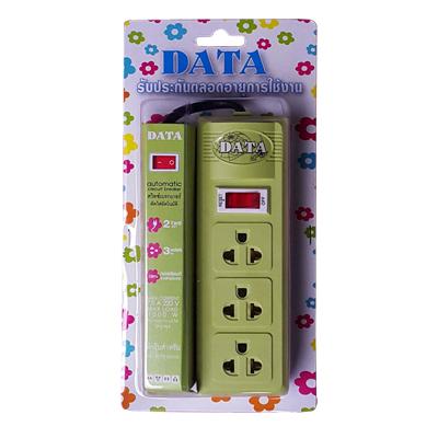 ปลั๊กไฟ สีเขียว DATA CF363