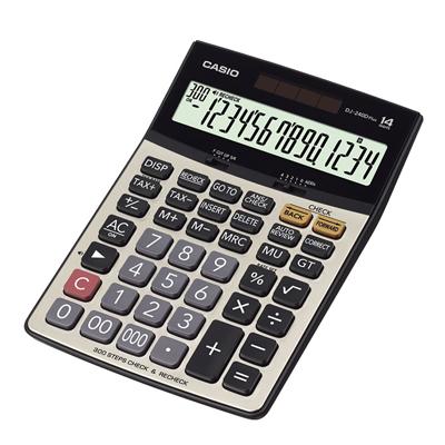 เครื่องคิดเลข บรอนซ์ทอง คาสิโอ DJ-240D PLUS
