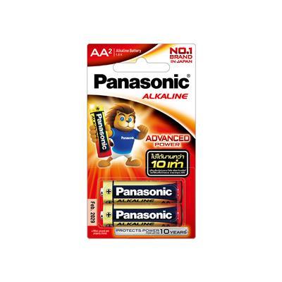 ถ่านอัลคาไลน์ LR6T/2B AA (แพ็ค 2 ก้อน) Panasonic
