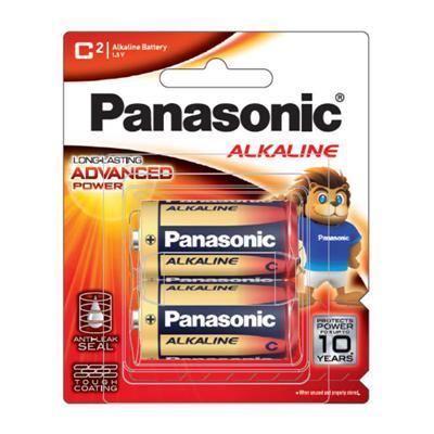 ถ่านอัลคาไลน์ LR14T/2B C (แพ็ค 2 ก้อน) Panasonic