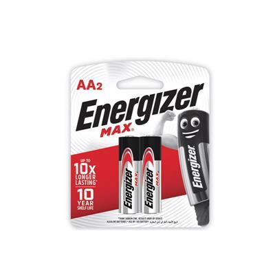 ถ่านอัลคาไลน์ E91-BP2 AA (แพ็ค 2 ก้อน) Energizer Max