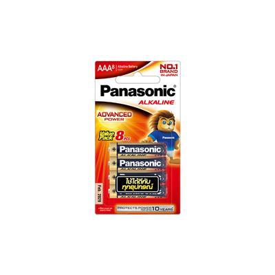 ถ่านอัลคาไลน์ LR03T/8B AAA (แพ็ค 8 ก้อน) Panasonic