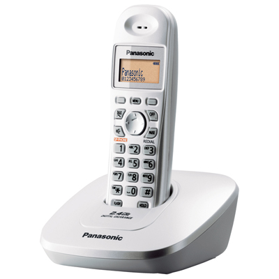 โทรศัพท์ไร้สาย ขาวมุก Panasonic KX-TG3611BXS