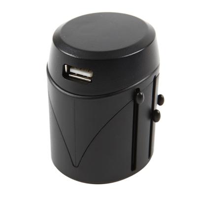 หัวแปลงปลั๊กไฟ USB สีดำ สตอร์ม World Travel SW002