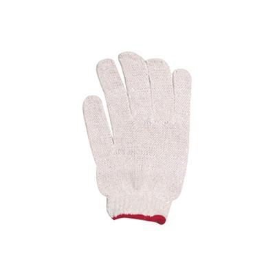 ถุงมือผ้าดิบ ขอบแดง พี.เค.
