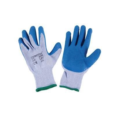 ถุงมือถัก M ฟ้า ไมโครเท็กซ์ 300